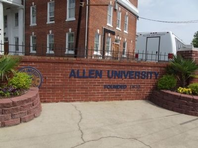 Allen University Sign image. Click for full size.
