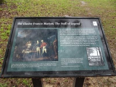 The Elusive Francis Marion: The Stuff of Legend Marker image. Click for full size.