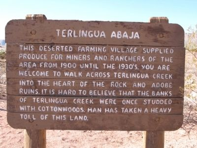 Terlingua Abaja Marker image. Click for full size.