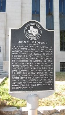 Oran Milo Roberts Marker image. Click for full size.