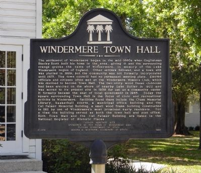 Town of Windermere Marker image. Click for full size.