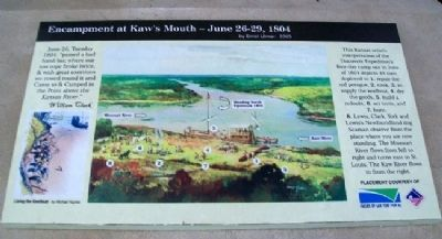 Encampment at Kaw's Mouth - June 26-29, 1804 Marker image. Click for full size.