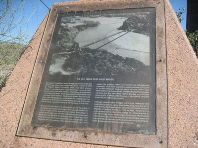 The Old Verde River Sheep Bridge - Marker 1 image. Click for full size.