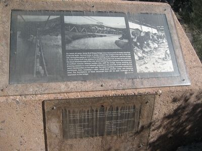 The Old Verde River Sheep Bridge - Marker 2 image. Click for full size.