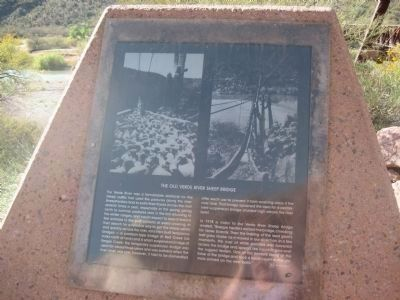 The Old Verde River Sheep Bridge - Marker 3 image. Click for full size.