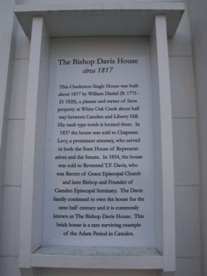 The Bishop Davis House Marker image. Click for full size.