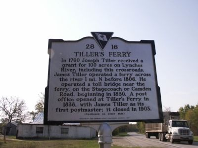 Tiller's Ferry Marker image. Click for full size.