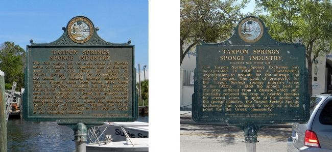Tarpon Springs Sponge Industry Marker image. Click for full size.