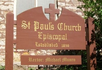 St. Paul's Episcopal Church Sign image. Click for full size.