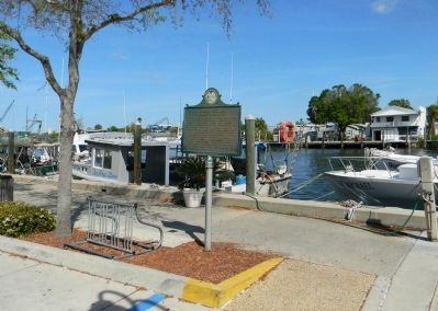 Wide view of the Tarpon Springs Sponge Industry Marker image. Click for full size.