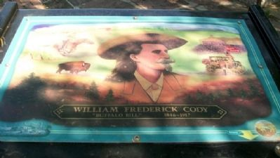 "William Frederick ""Buffalo Bill"" Cody Marker image. Click for full size."