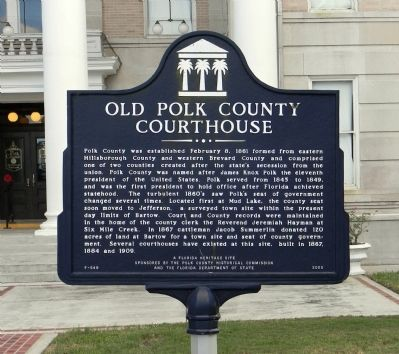 Old Polk County Courthouse Marker image. Click for full size.