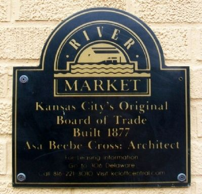 Kansas City's Original Board of Trade Marker image. Click for full size.