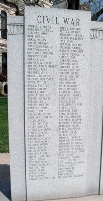 Civil War - Names Listed image. Click for full size.