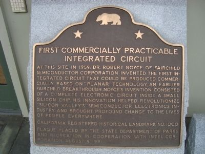 First Commercially Practicable Integrated Circuit Marker image. Click for full size.