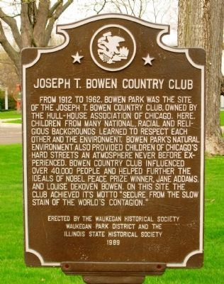 Joseph T. Bowen Country Club Marker image. Click for full size.