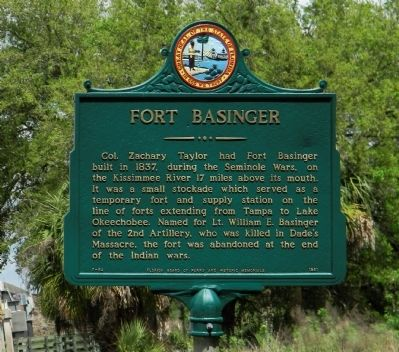 Fort Basinger Marker image. Click for full size.