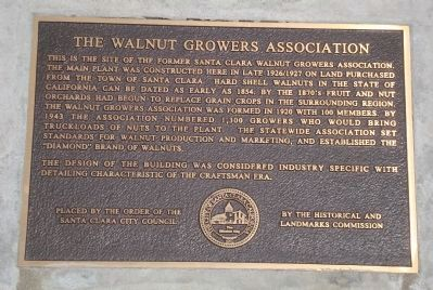 The Walnut Growers Association Marker image. Click for full size.