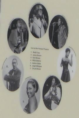 Howard Theatre Marker: close-up of seven legendary performers image. Click for full size.