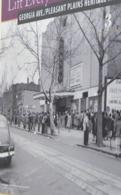"""Crowds gather at the Howard Theatre, around 1940"" image. Click for full size."