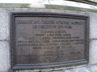 Soldiers and Sailors Memorial Monument Plaque image. Click for full size.