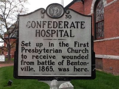 Confederate Hospital Marker image. Click for full size.
