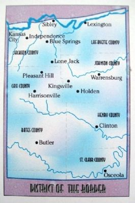 District of the Border Map on G. O. No. 11 Marker image. Click for full size.