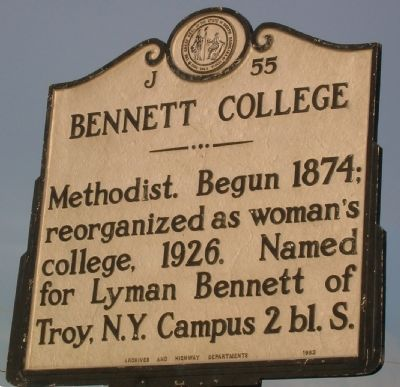 Bennett College Marker image. Click for full size.