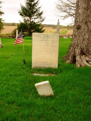 Helmont and Susannah Kellogg Grave Stones image. Click for full size.
