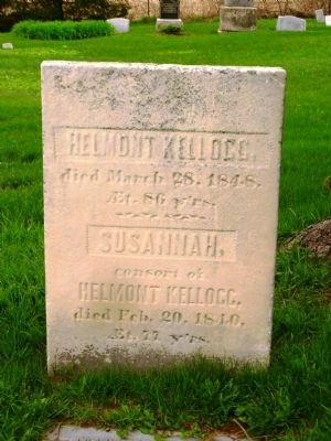 Helmont and Susannah Kellogg Grave Stone image. Click for full size.