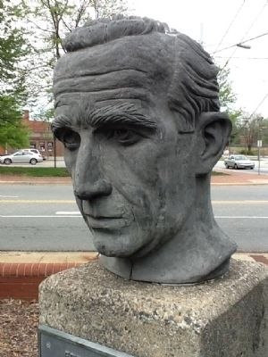 Edward R. Murrow Sculpture image. Click for full size.