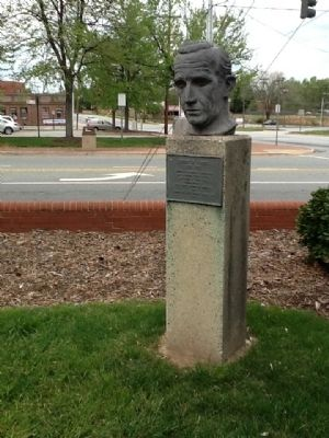 Edward R. Murrow Marker and Sculpure image. Click for full size.