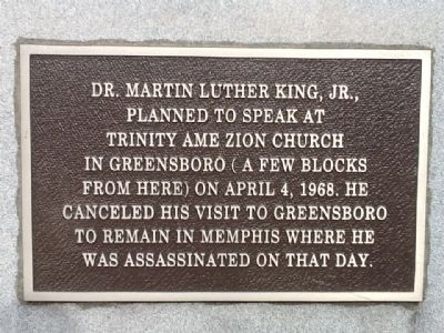 Dr. Martin Luther King, Jr. Main Marker image. Click for full size.