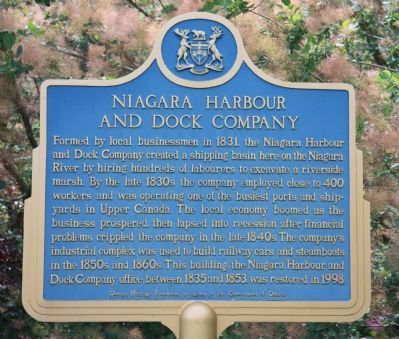 Niagara Harbour and Dock Company Marker image. Click for full size.