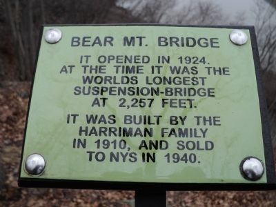 Bear Mt. Bridge Marker image. Click for full size.