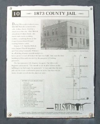 1873 County Jail Marker image. Click for full size.