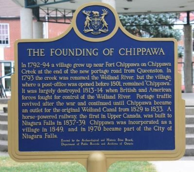 The Founding of Chippawa Marker image. Click for full size.
