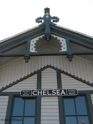 Chelsea Depot Distance Marker image. Click for full size.