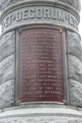 Fort Erie, Pro Patria Mori Cairn Marker image. Click for full size.