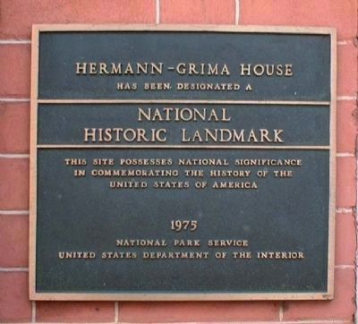 Hermann – Grima House National Historic Landmark image. Click for full size.