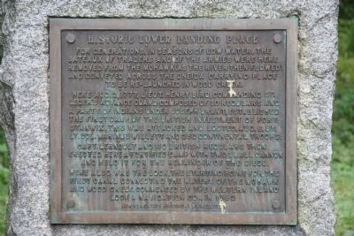 Historic Lower Landing Place Marker image. Click for full size.