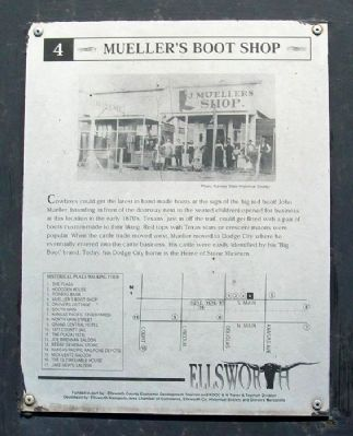 Mueller's Boot Shop Marker image. Click for full size.