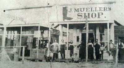 Photo of Mueller's Boot Shop on Marker image. Click for full size.