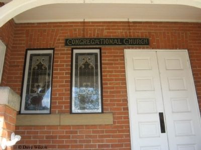 First Congregational Church - Center Entrance Doors image. Click for full size.