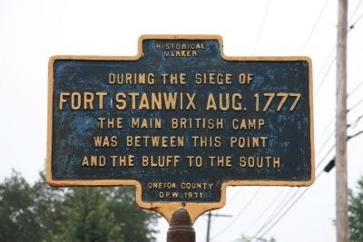 The Main British Camp Marker image. Click for full size.