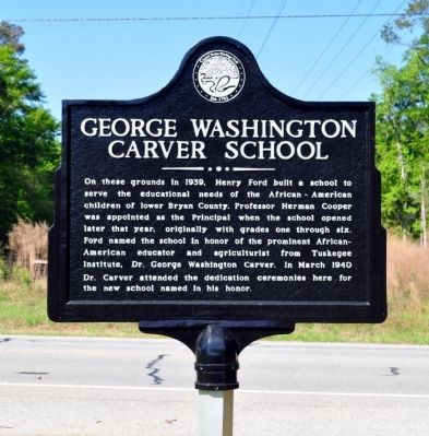 George Washington Carver School Marker image. Click for full size.