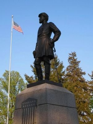Reynolds Statue in Gettysburg National Cemetery image. Click for full size.