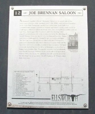 Joe Brennan Saloon Marker image. Click for full size.