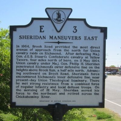 Sheridan Maneuvers East Marker image. Click for full size.