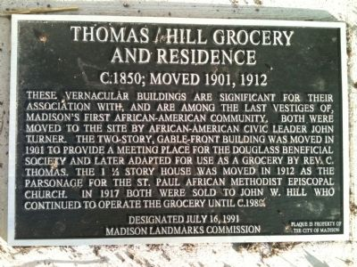 Thomas / Hill Grocery and Residence Marker image. Click for full size.